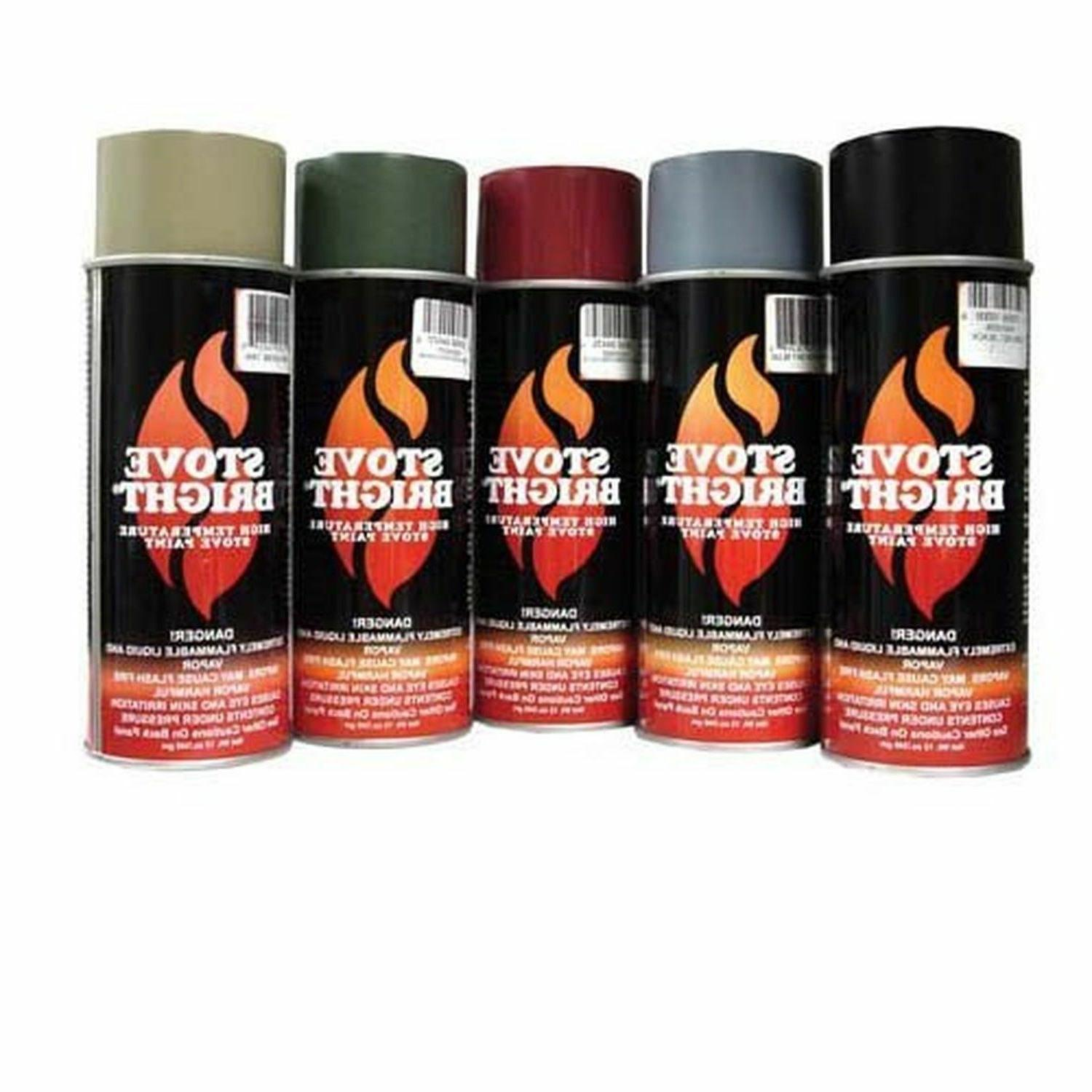 Stove Bright #6309 High Temp 12oz. Aerosol Can Stove Paint-