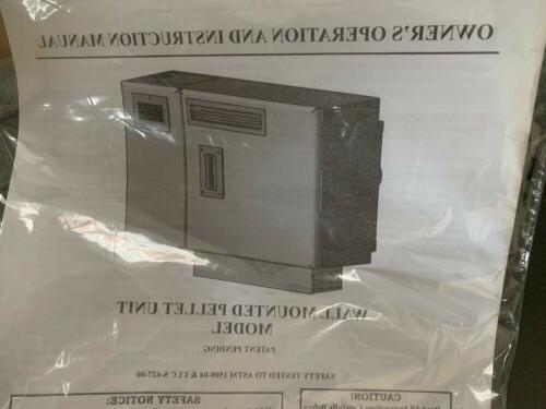 Wall Pellet Stove Model 4840