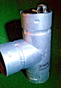 """Metal-Fab 3"""" Double-Wall Pipe Tee W/ Cleanout Cap Chimney Pe"""