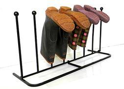 Boot Organizer: The Boot Rack Indoor/Outdoor Iron Boot Rack