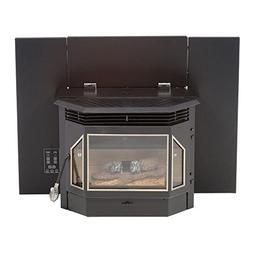 Pellet Burning Fireplace Insert 45lb Hopper 140CFM Blower 28