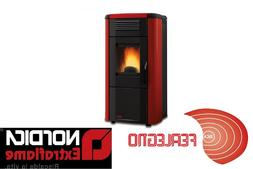 PELLET STOVE 10,2 KW-N AIR 958ft3 VIVIANA EVO BORDEAUX NORDI
