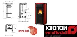 PELLET STOVE 10,2 KW-N AIR DUCTED VIVIANA PLUS BORDEAUX EXTR
