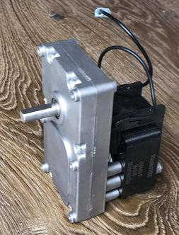 Pellet Stove Auger Gear Feed Motor 4RPM CW, 120V, 60Hz For H