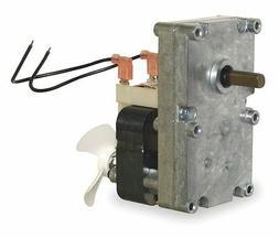 "Pellet Stove Auger Gear Motor 3/8"" Shaft, With Cooling Fan,"
