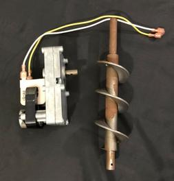 Breckwell Pellet Stove Auger Shaft & 1 RPM Motor OEM Parts,