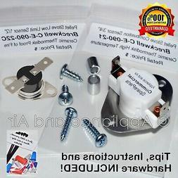 Breckwell Pellet Stove CERAMIC Limit Switch Kit C-E-090-21+C