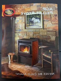 pellet stove freestanding agp rust patina side