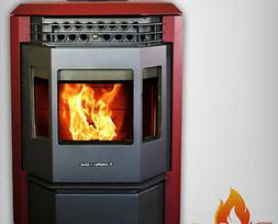pellet stove hp22 50000btu attractive burgundy limited