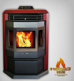 pellet stove hp22 50000btu attractive burgundy w