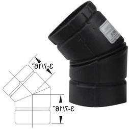 ELL PP STV 45DEG 3IN BLK Selkirk Inc Stove Pipe Fittings - B