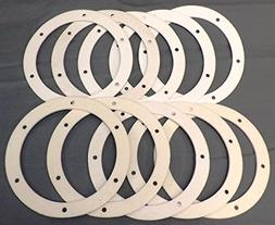 "Pellet Stove 6"" Round Gasket for Combustion/Exhaust Fan - 10"