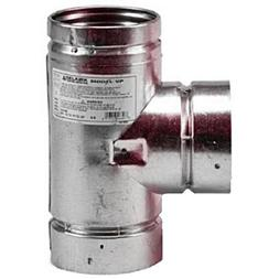 Pellet Stove Vent 3in Tee Cap Type L Pipe Connector Clean Ou