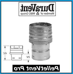 """DURAVENT PELLETVENT PRO 3"""" to 4"""" Increaser Adapter, Galv. #3"""