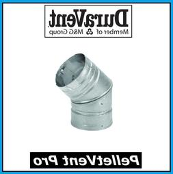 """DURAVENT PELLETVENT PRO Pipe 4"""" Diameter 45 Degree Elbow #4P"""