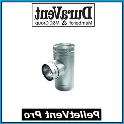 """DURAVENT PELLETVENT PRO Pipe 4"""" Increaser Tee with Clean Out"""