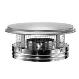 ROUND CHIMNEY CAP Triple Wall Double Layer Top Mount Stainle
