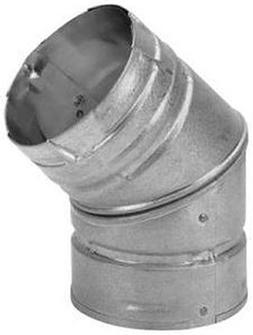 """Simpson Duravent Elbow Insulated 3"""" Double Wall 45 Deg. Stee"""