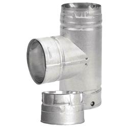 3 in. Tee with Clean-Out Cap Pellet Stove Fireplace Vent Pip