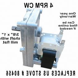 US STOVE PELLET CORN AUGER & AGITATOR MOTOR -   4 RPM CW - 8
