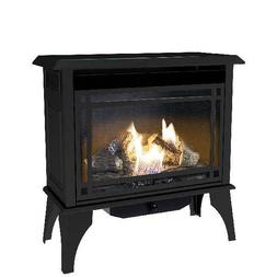 Vent Free Gas Stove Heater Propane Cast Iron Fireplace Free