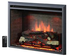 "PuraFlame 30"" Western Electric Fireplace Insert with Remote"