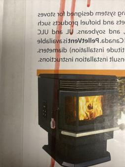 "Wood Pellet Burning Stove Vent Kit 3"" Inch Horizontal Throug"