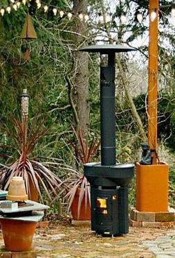 Outdoor Wood Pellet Heater Deck Patio Q-Flame 79 in. 72 000