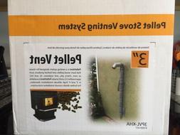 Wood Pellet stove vent kit horizontal through wall chimney p