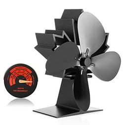 CWLAKON Wood Stove Fan-Silent Operation 4 Blades with Stove