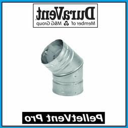 "174503 3""x 45 Degree Elbow Pellet Vent"